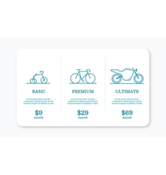 pricing subscription plan vector image