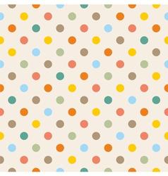 Seamless colorful polka dots pattern vector image vector image