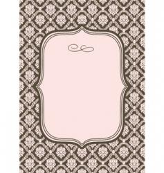 Wallpaper pattern and border vector