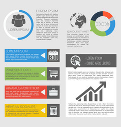 business activity infographics vector image vector image