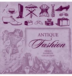 fashion antique set vector image vector image