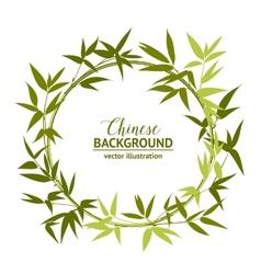 Green bamboo wreath vector image vector image