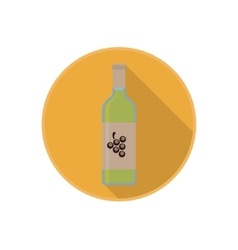 icon of alcohol bottle with good white wine vector image vector image