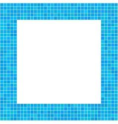 Mosaic Frame Blue vector image