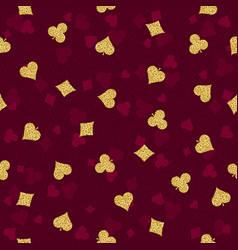 Seamless red gambling poker background vector