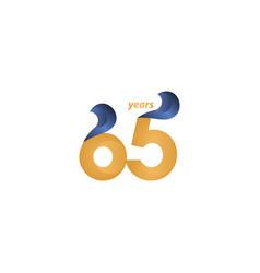 65 years anniversary celebration gold elegant vector
