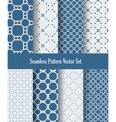 abstract blue and white dotted lines vector image