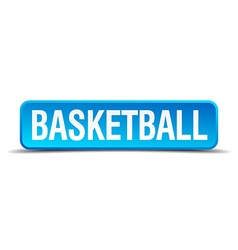 basketball blue 3d realistic square isolated vector image