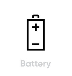 battery recycling icon editable line vector image