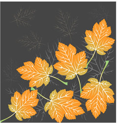 Beautiful leaves seamless vector