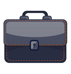 Black briefcase icon cartoon style vector