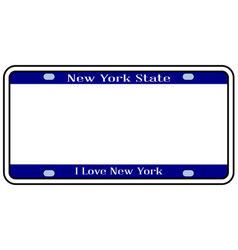 Blank new york state license plate vector