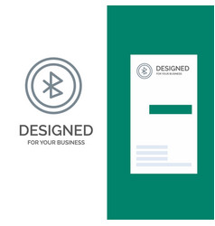 Bluetooth ui user interface grey logo design and vector