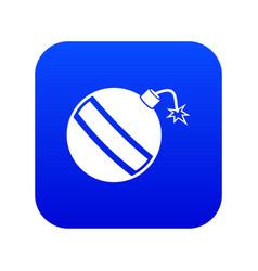 bomb icon digital blue vector image