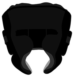 Boximg helmet vector image
