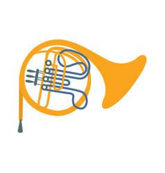 brass horn part of musical instruments set of vector image