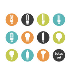 bulbs icon set vector image