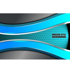 Business modern ocean blue background vector