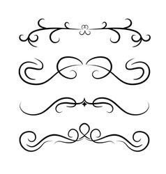 Calligraphic design element set vector
