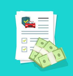 Car or auto insurance financial guarantees vector