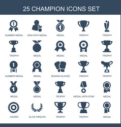 champion icons vector image