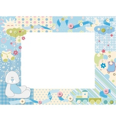 child photo framework vector image vector image