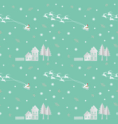christmas seamless pattern with santa clause vector image