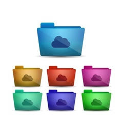 cloud folder vector image