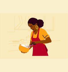 cooking baking hobby food preparation concept vector image
