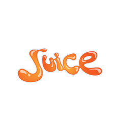 creative letter juice symbol design vector image
