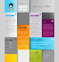Creative resume template with place for your photo vector