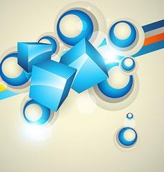 cubes design vector image