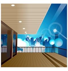 Deck Cityscape Scene vector