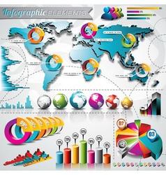 design set infographic elements vector image