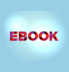 Ebook concept colorful word art vector
