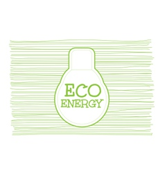 Eco energy word combined with light bulb on vector