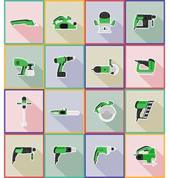 Electric repair tools flat icons 18 vector