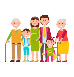family standing together vector image