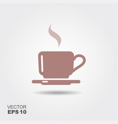 flat icon a coffee cup vector image