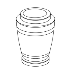 Funeral urns icon in outline style isolated on vector