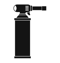 Gas cylinder icon simple vector