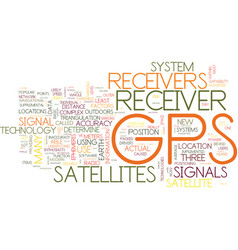 Gps receivers explained text background word vector