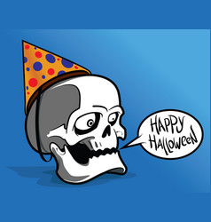 halloween with skull vector image