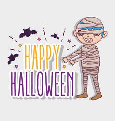 happy halloween cartoons vector image