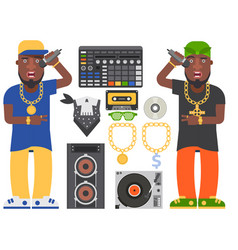 Hip hop man accessory musician accessories vector