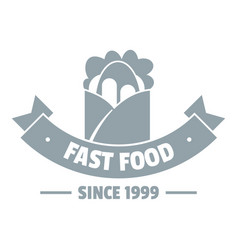 hot fast food logo simple gray style vector image