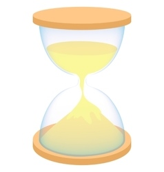 Hourglass icon in cartoon style vector image