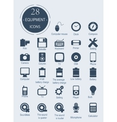 Icons with electronic devices vector