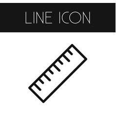 isolated tool outline ruler element can be vector image