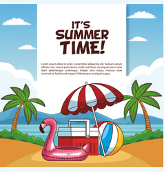 its summer time poster vector image